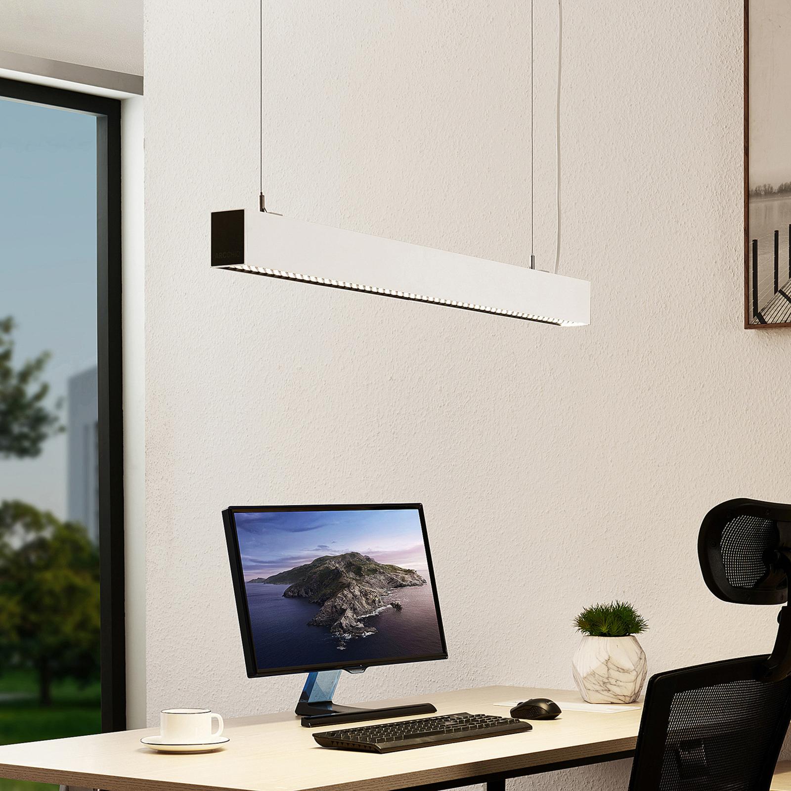 Arcchio Thores LED-Büro-Hängelampe, 113 cm weiß