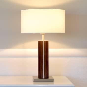 HerzBlut Dana lampa stołowa drewniana stopa orzech