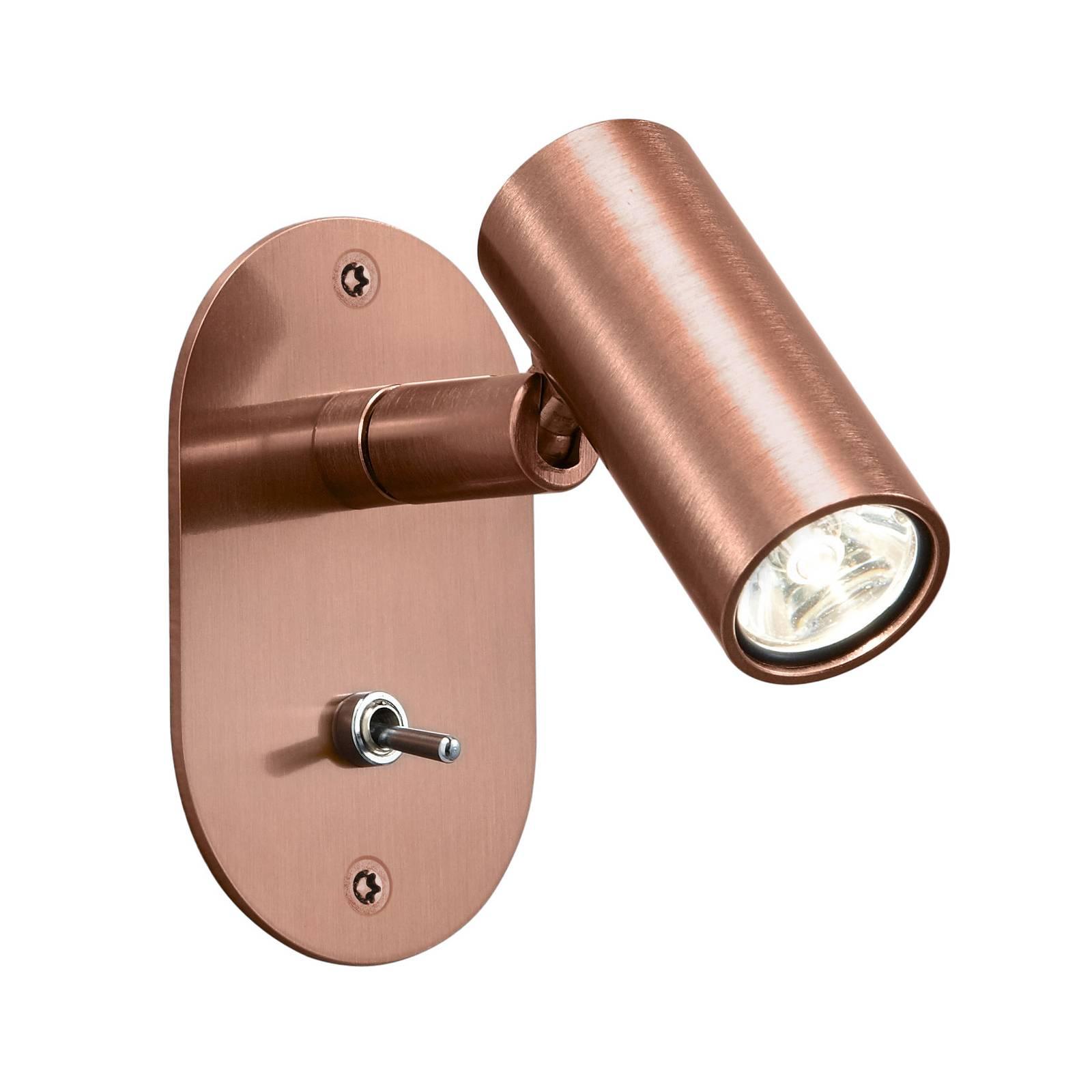 Baulmann 64.506 LED-Wandleuchte, rund, kupfer