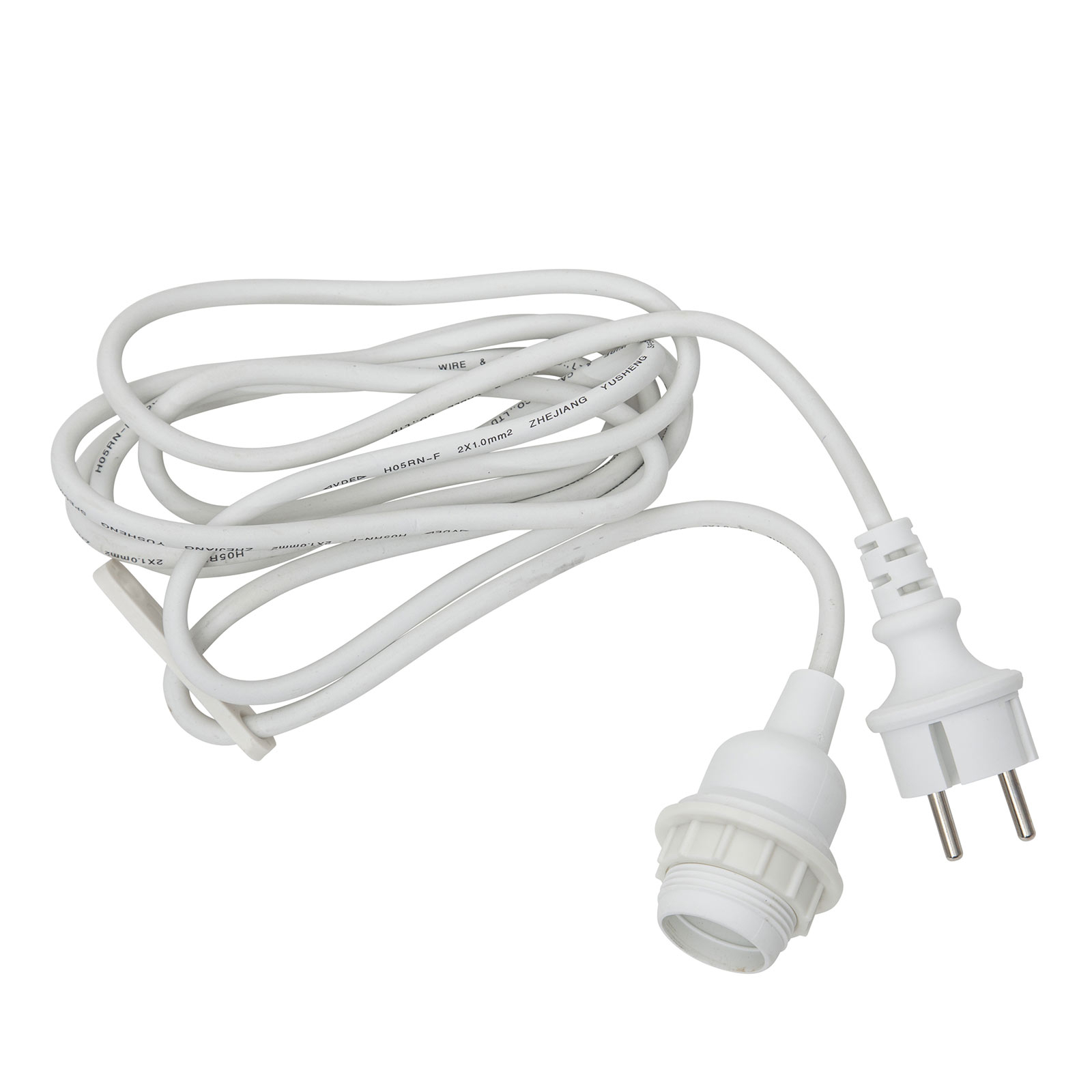 Douille E27 avec câble Ute, 2,5m, blanche