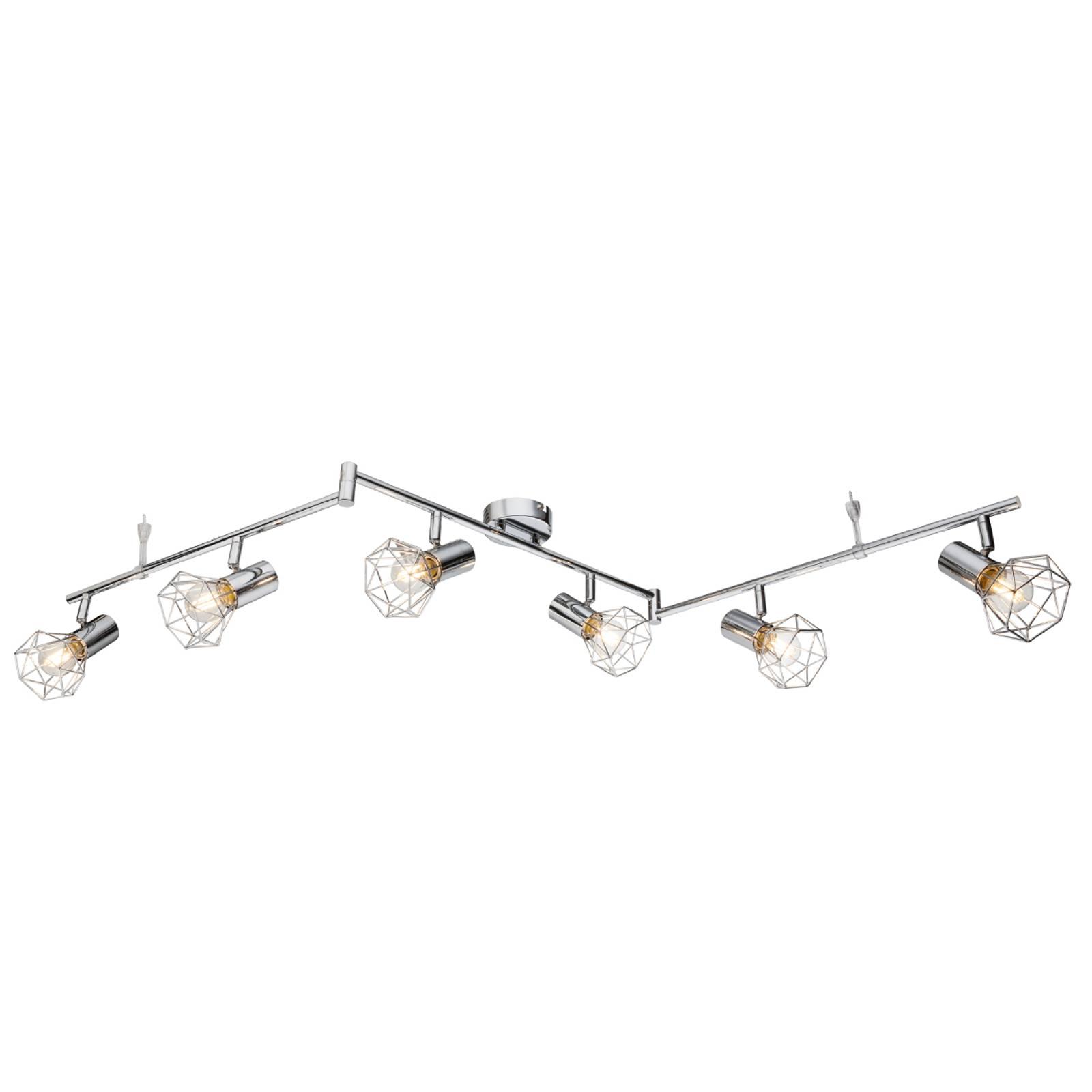 Plafonnier Daiva à six lampes