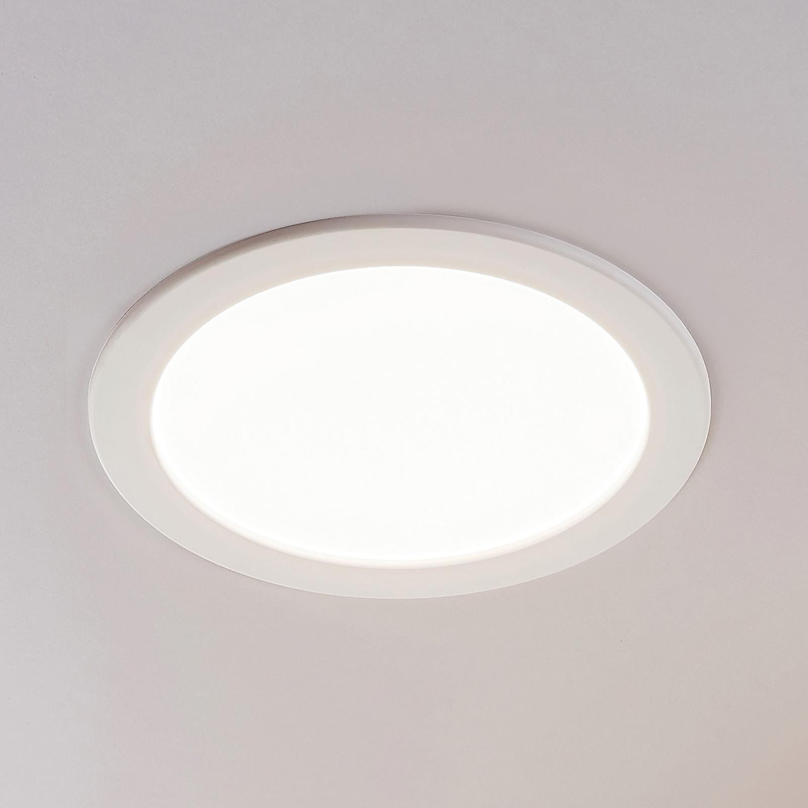 LED-innfelt spot Joki, hvit, 3000K rund 24cm