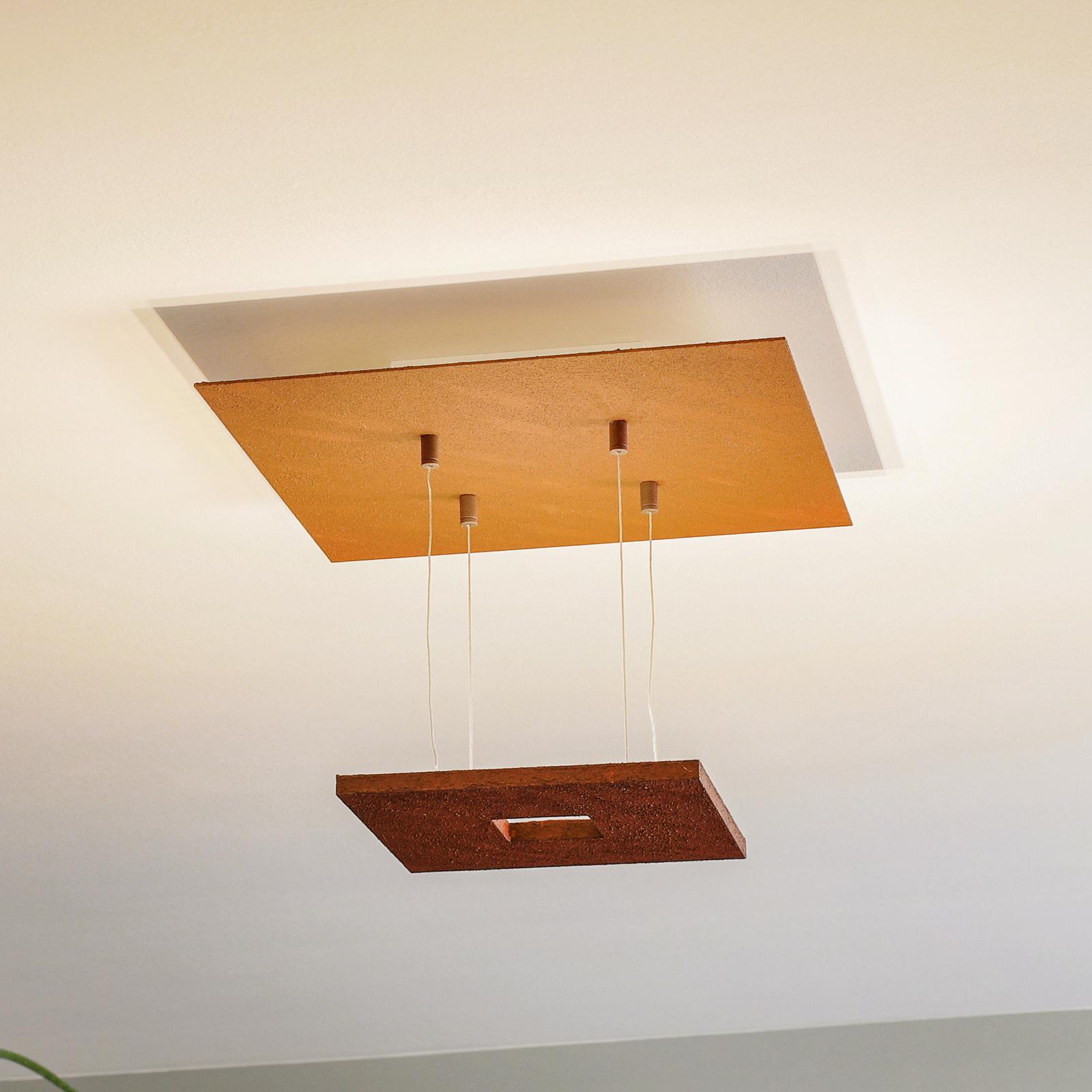 Plafonnier LED couleur rouille Zen Escale