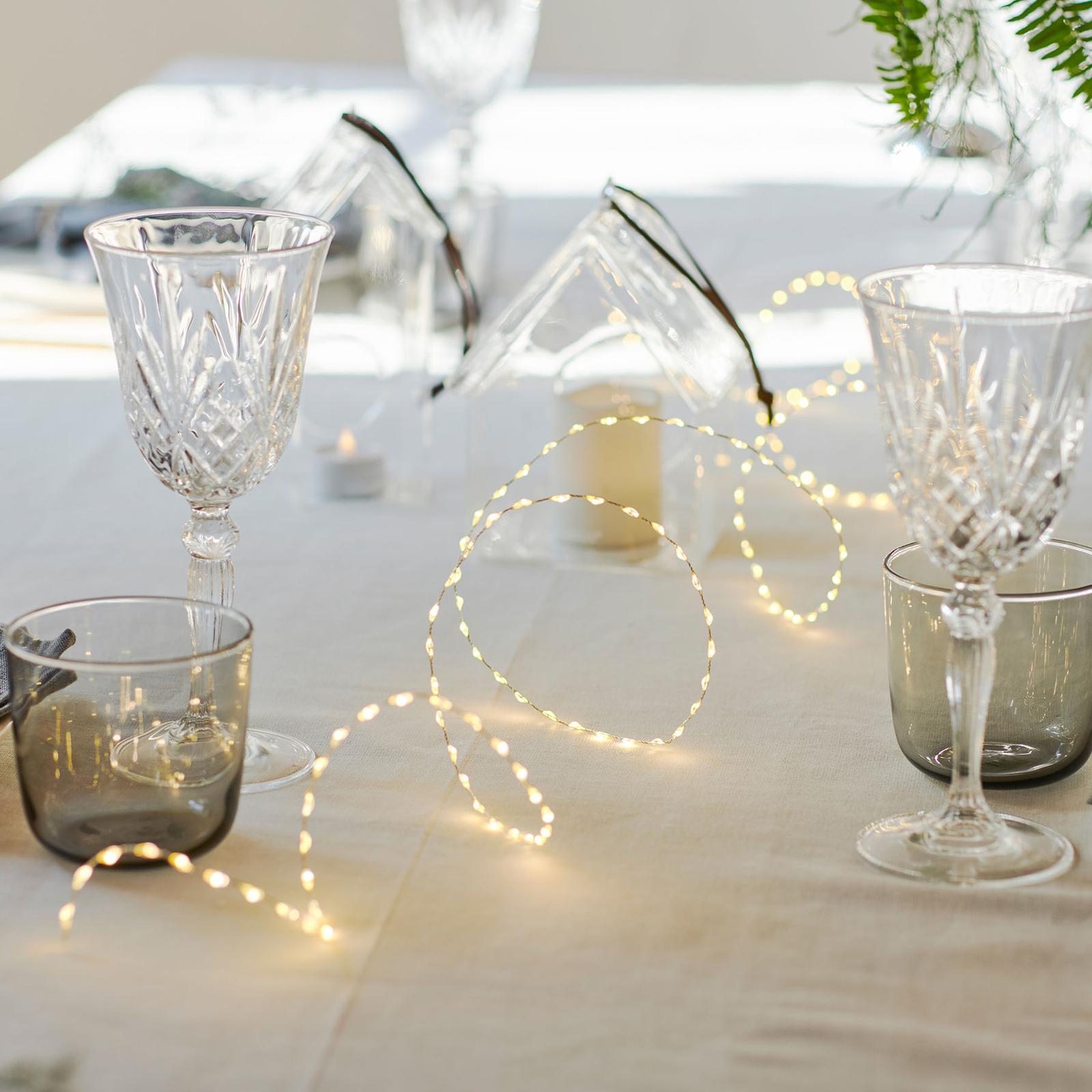 LED lichtketting Kiki, zilver, 200 cm