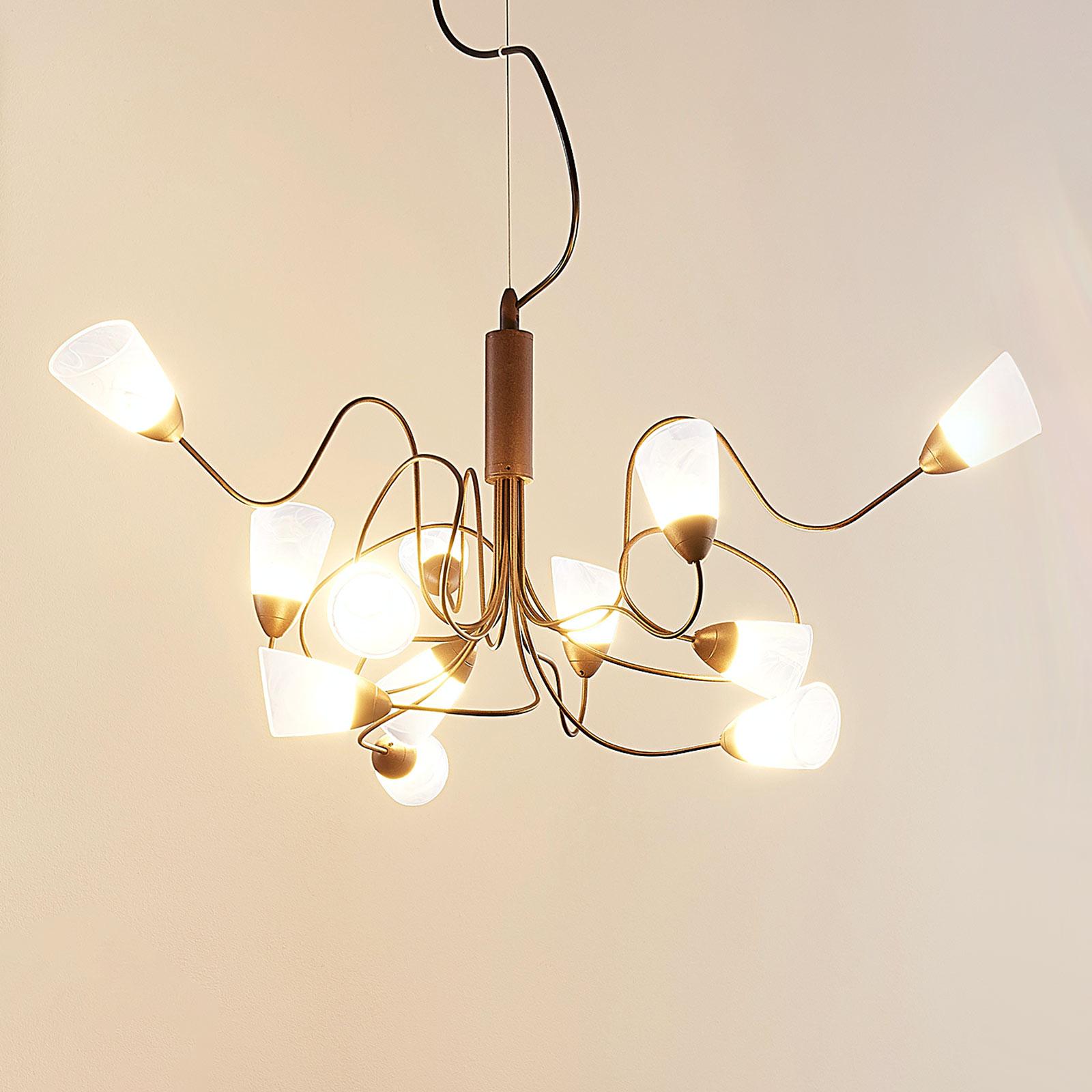LED-Pendellampe Hannes, 12-flammig, rund
