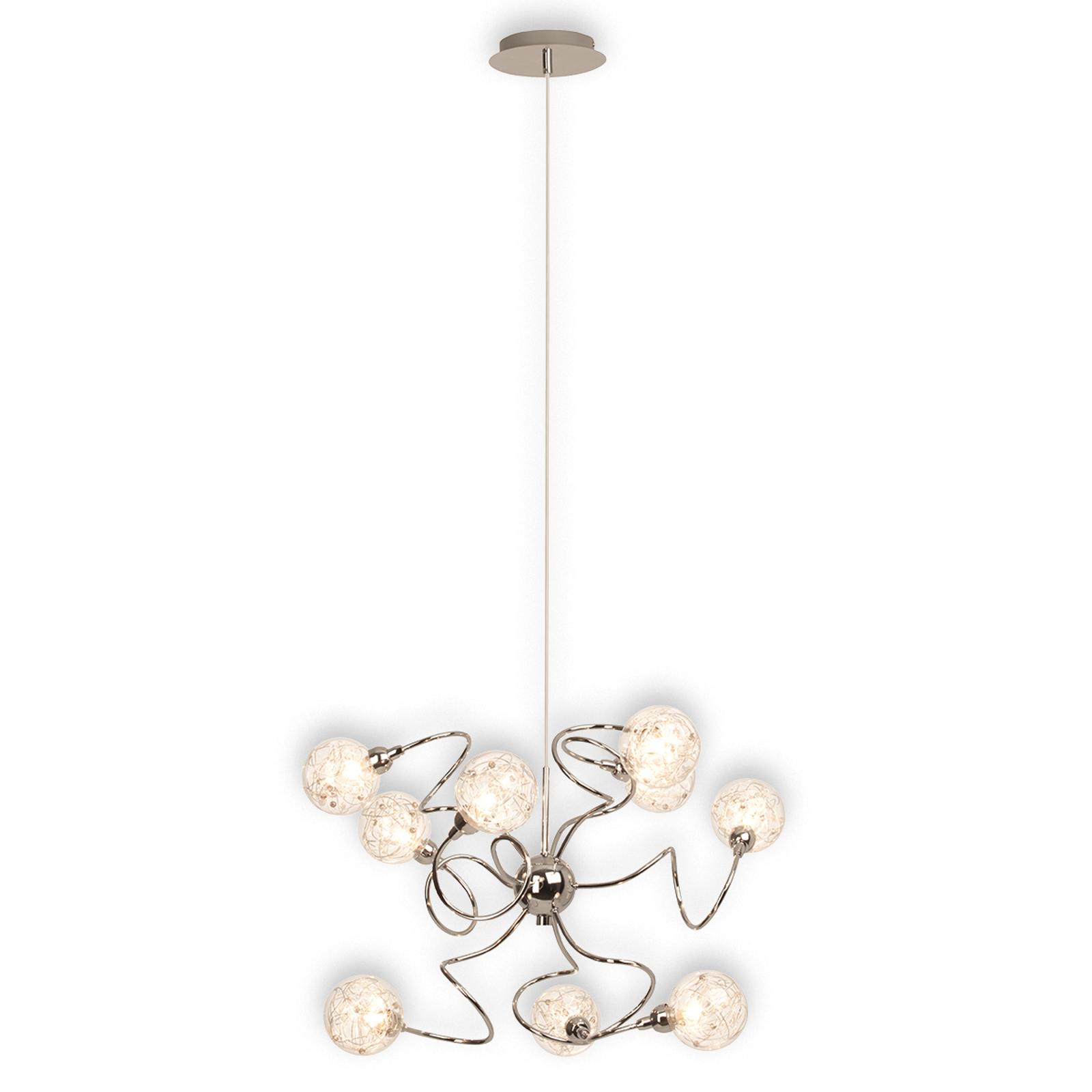 Joya - een negenlamps hanglamp met pit
