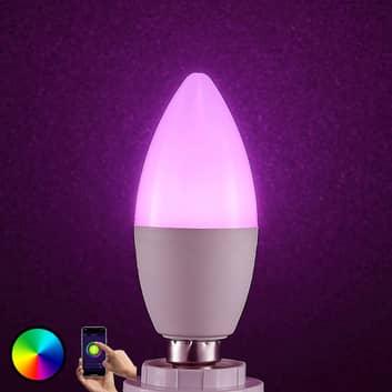 Lindby Smart ampoule LED WiFi E14 4,5W bougie RVB