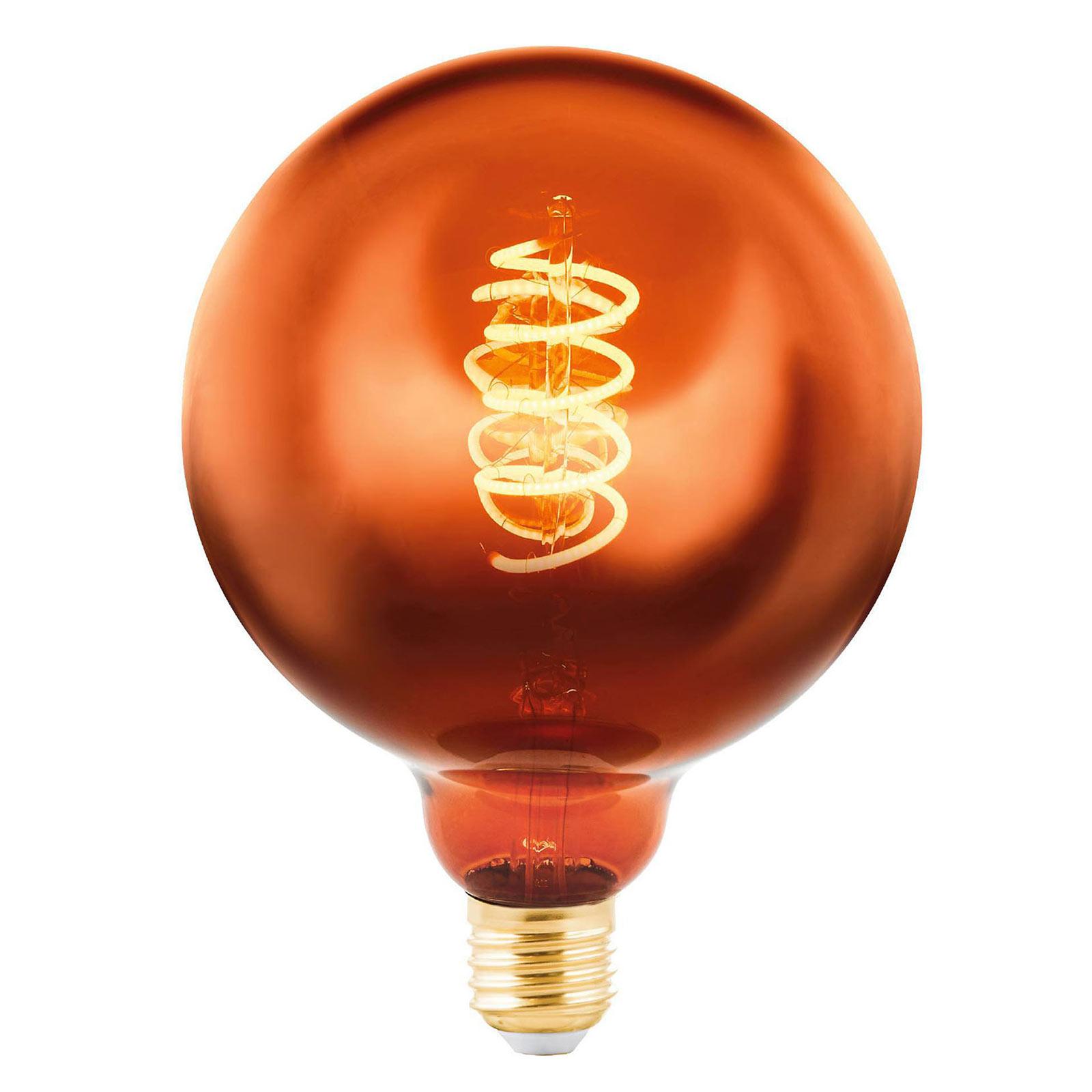 LED-Globelampe E27 4W kupfer bedampft Ø 12,5 cm