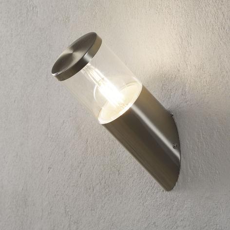 Venkovní nástěnné svítidlo z nerezu Hanneli, šikmé