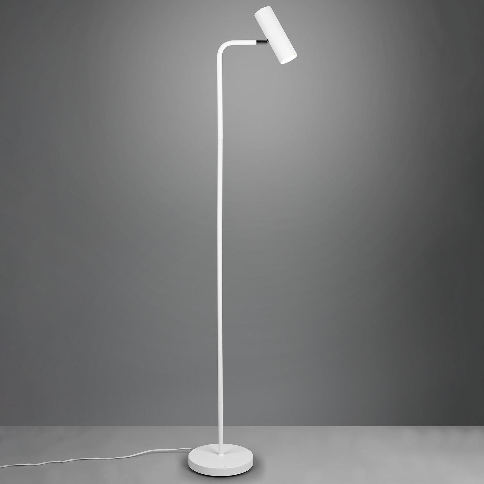 Stojací lampa Marley, bílá matná