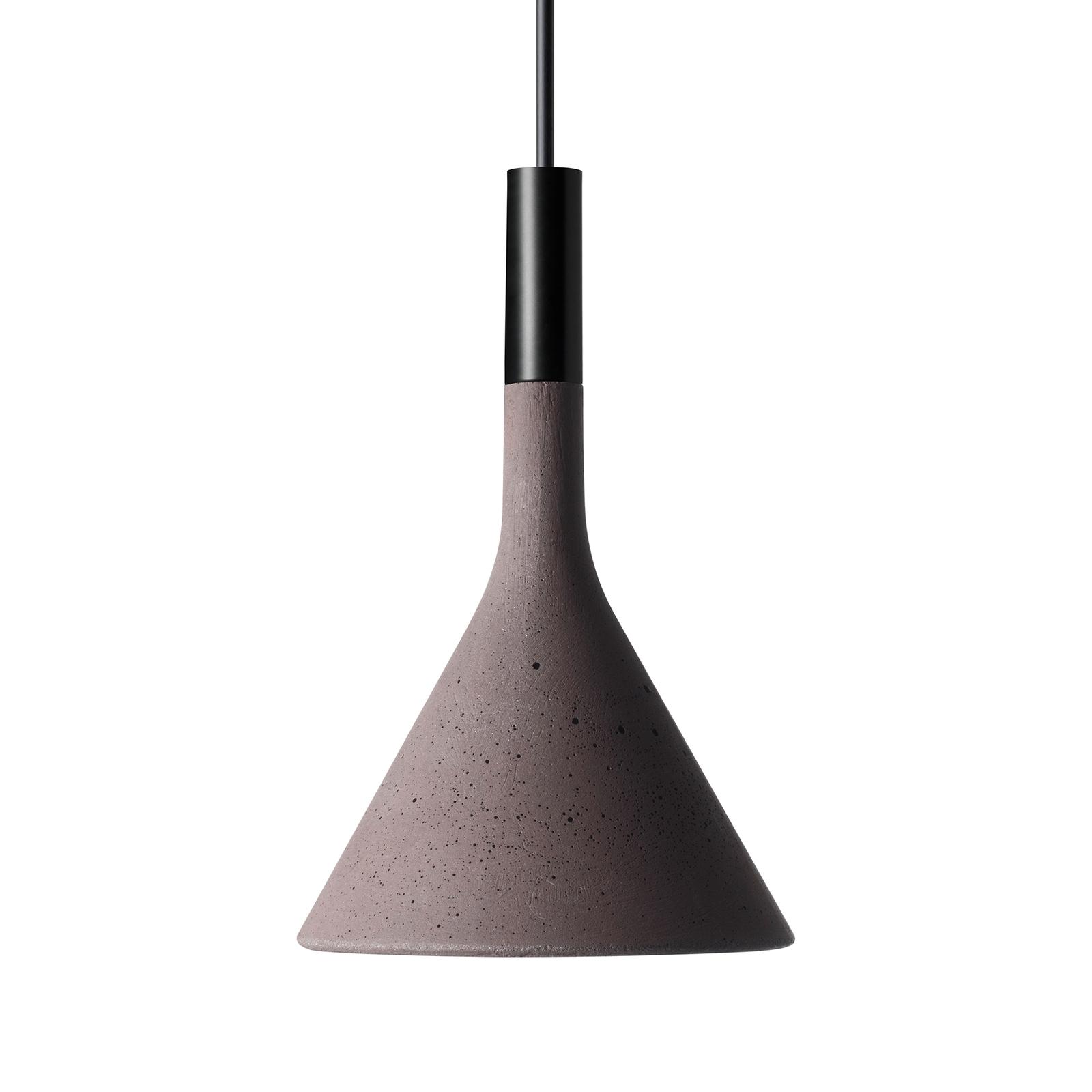 Foscarini Aplomb Mini hänglampa i betong, brun