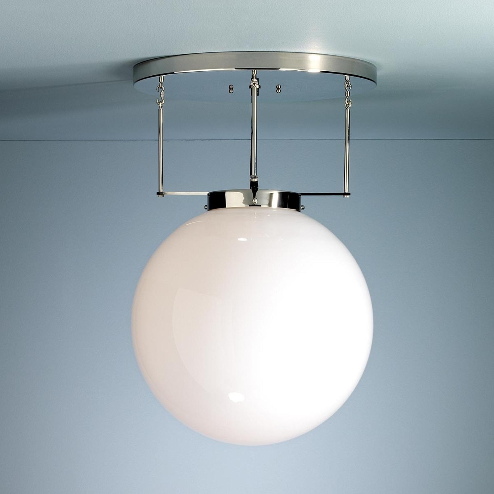Lampa sufitowa Brandt w stylu Bauhaus 40 cm nikiel