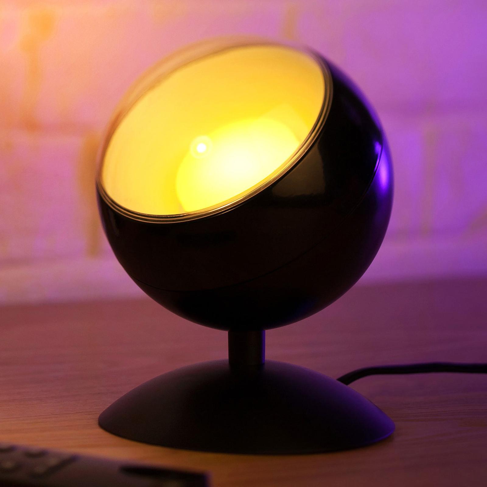 WiZ Quest -LED-pöytälamppu, RGBW, musta