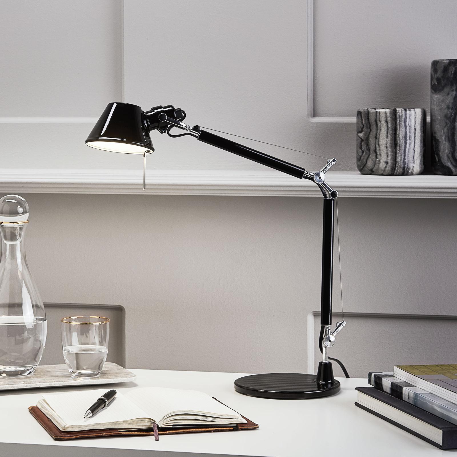 Artemide Tolomeo Micro -pöytälamppu, musta