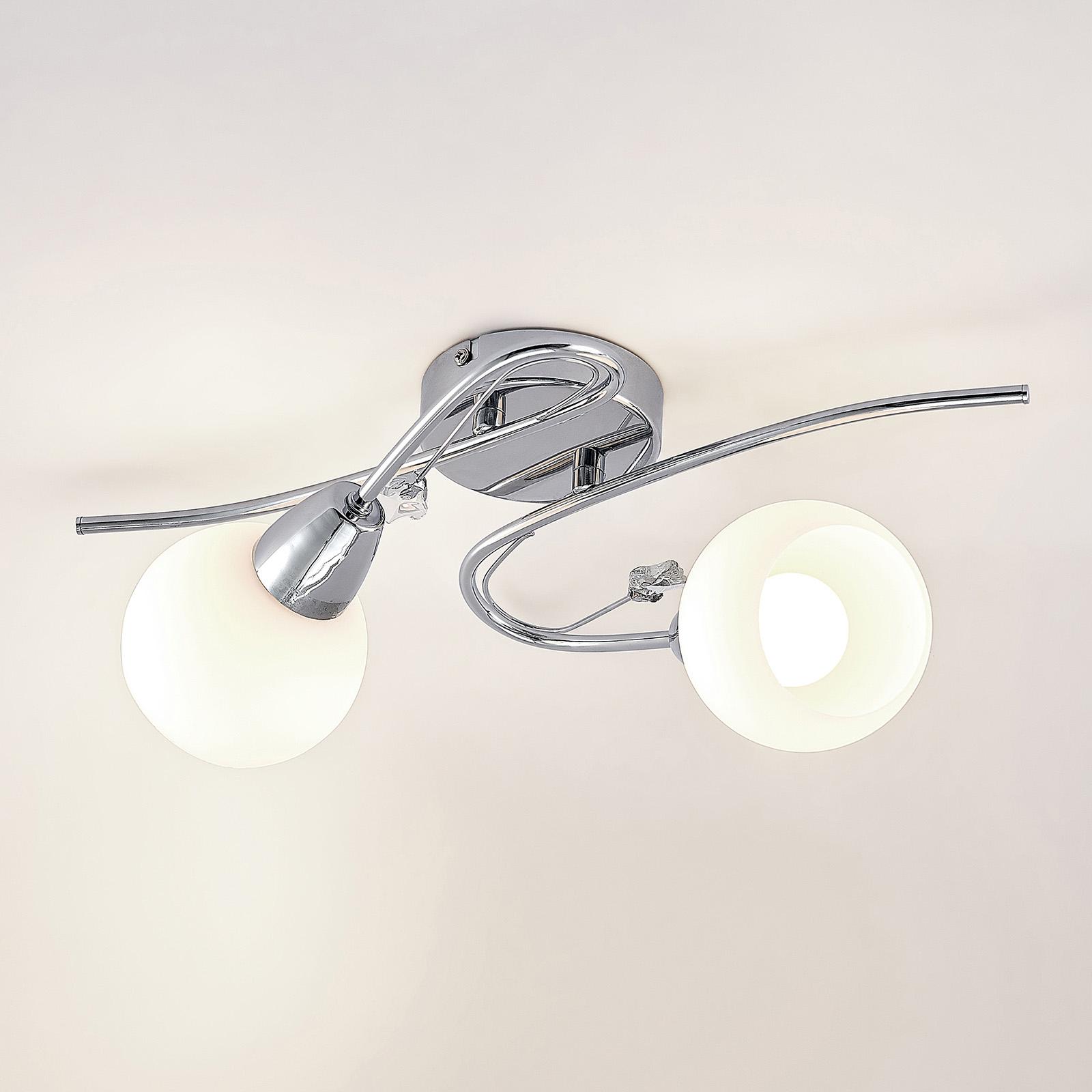 Lindby Floresca lampa sufitowa, 2-punktowa, chrom
