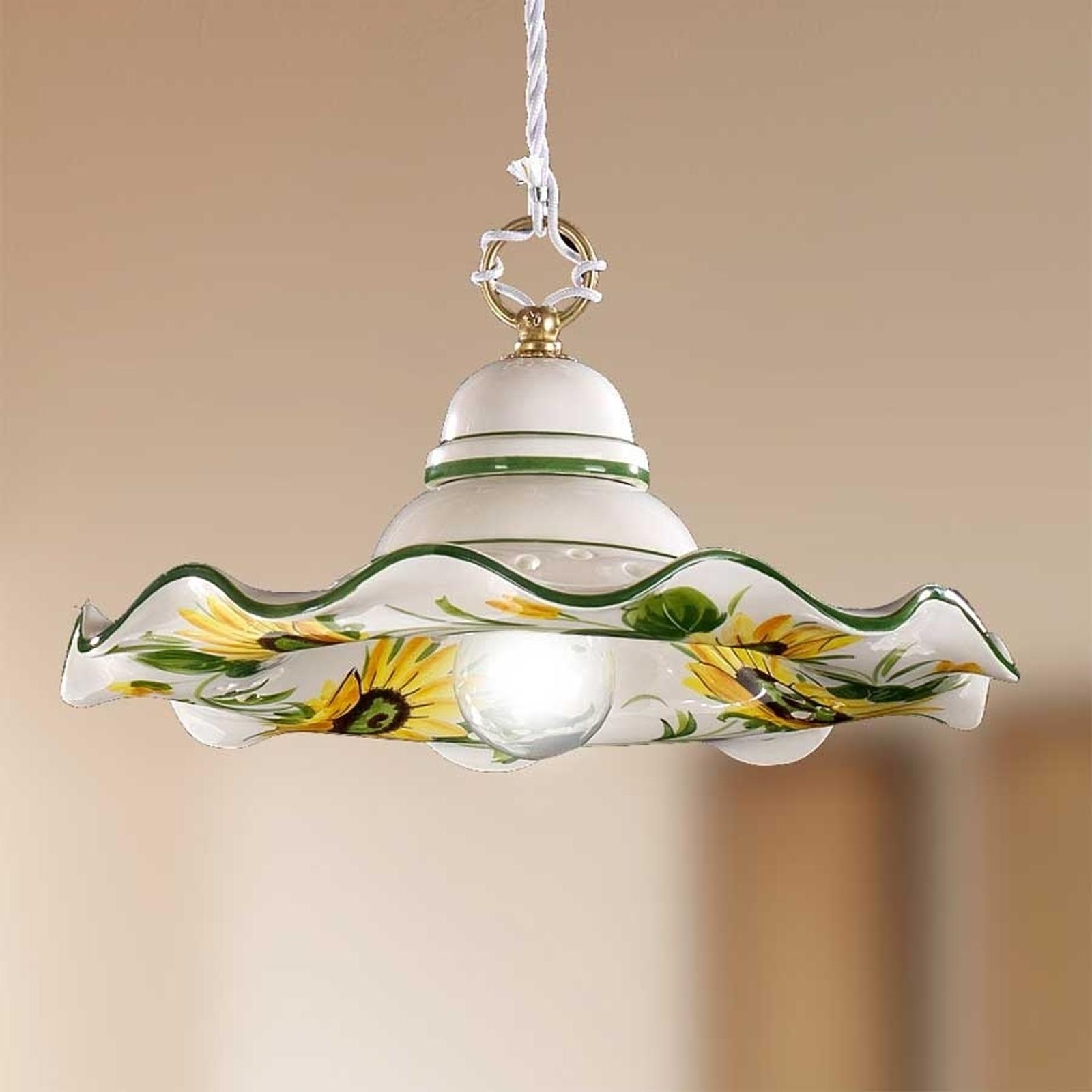 Lampa wisząca GIRASOLA w stylu dworkowym 32 cm