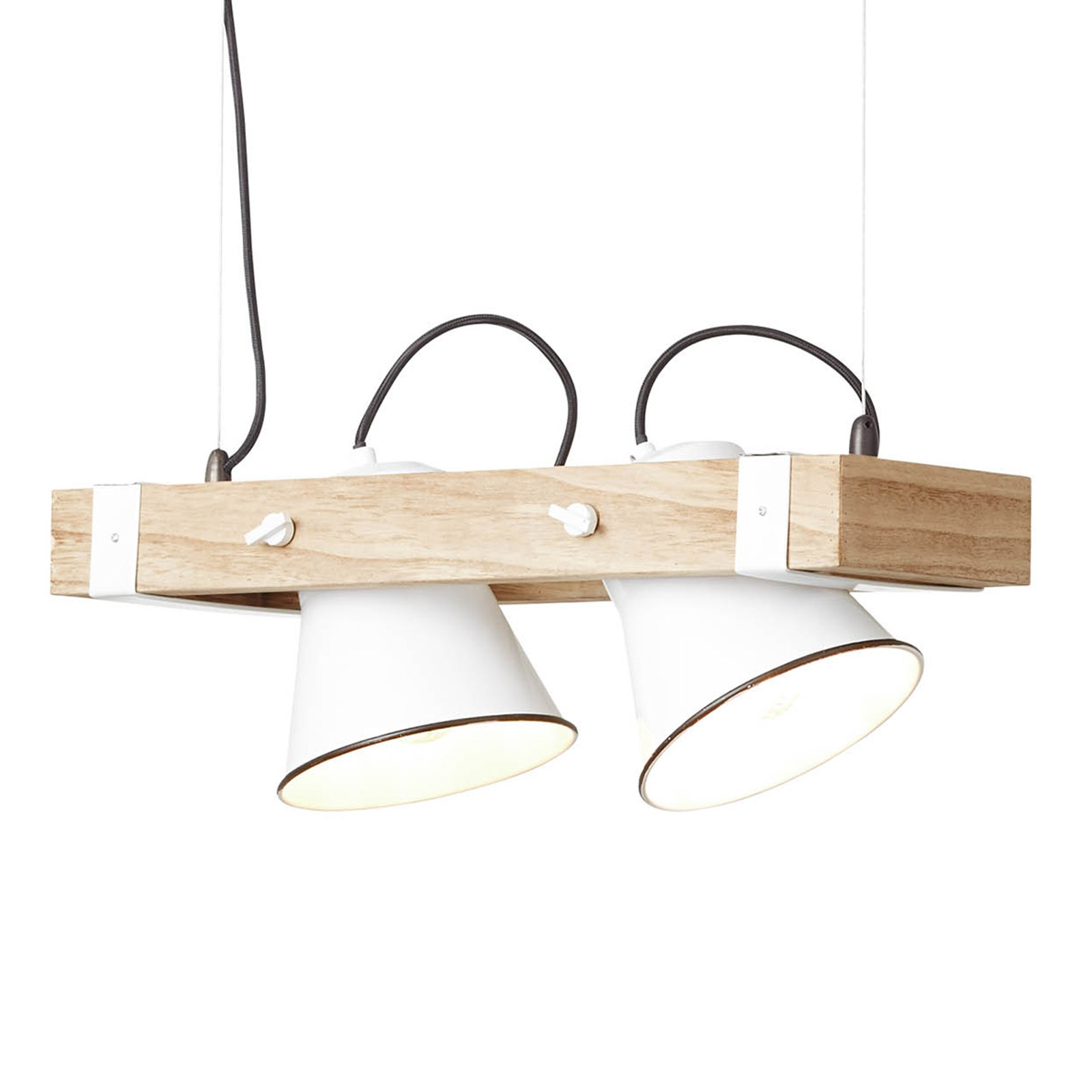 Hanglamp Plow 2-lamps., wit hout licht