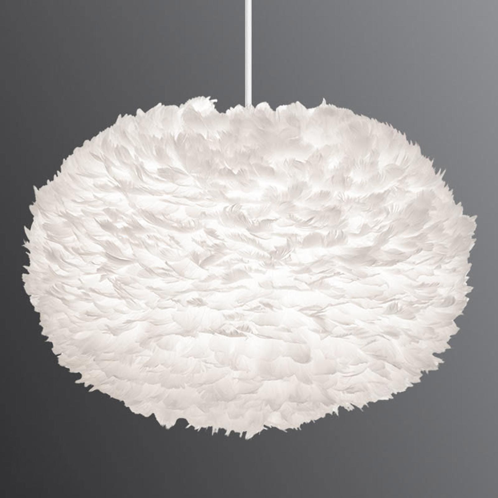 Extra stor hänglampa Eos med vit skärm