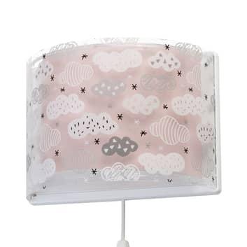 Lampa ścienna dziecięca Clouds różowa