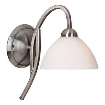 Nástěnné světlo Capri ocel/bílé