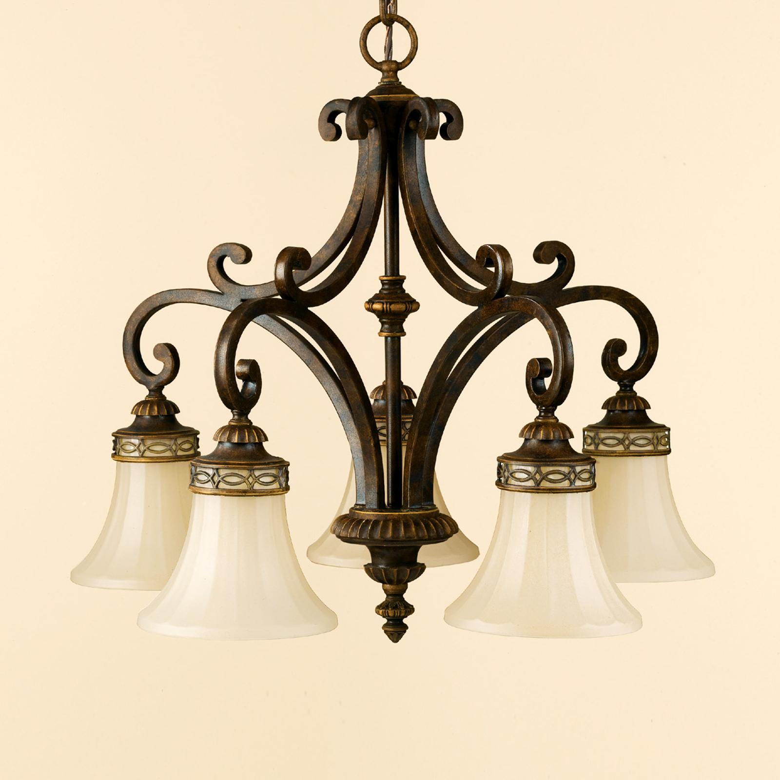 5-punktowa lampa wisząca DRAWING ROOM