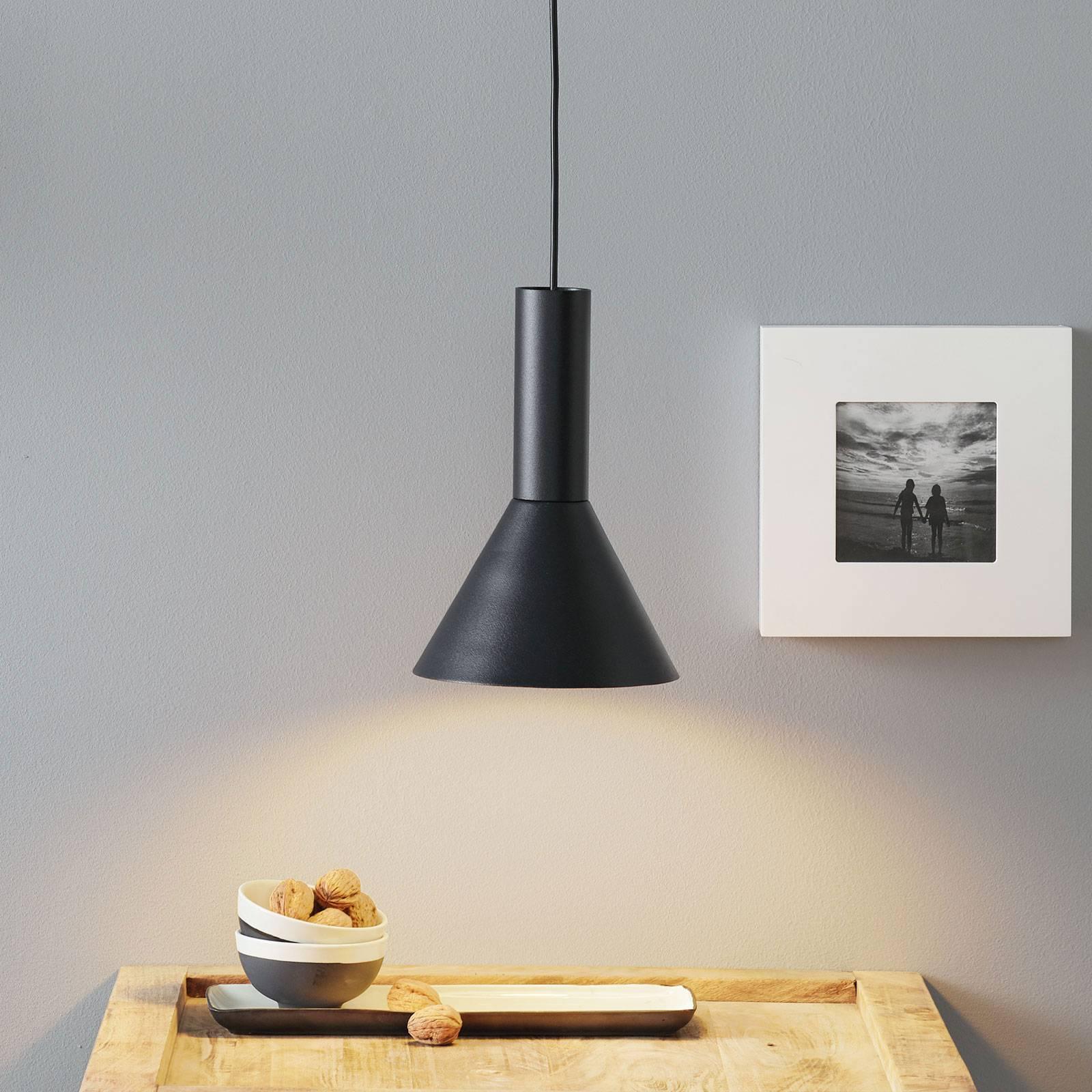Lucande Caris hanglamp Ø19cm zwart/goud