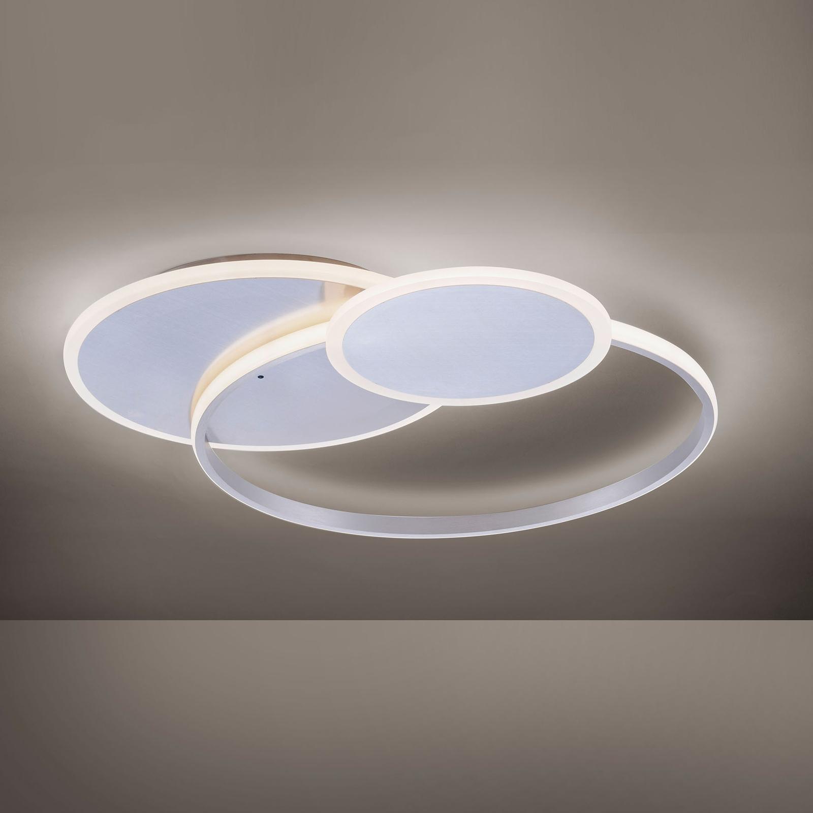 Plafoniera LED Emilio con telecomando, rotonda