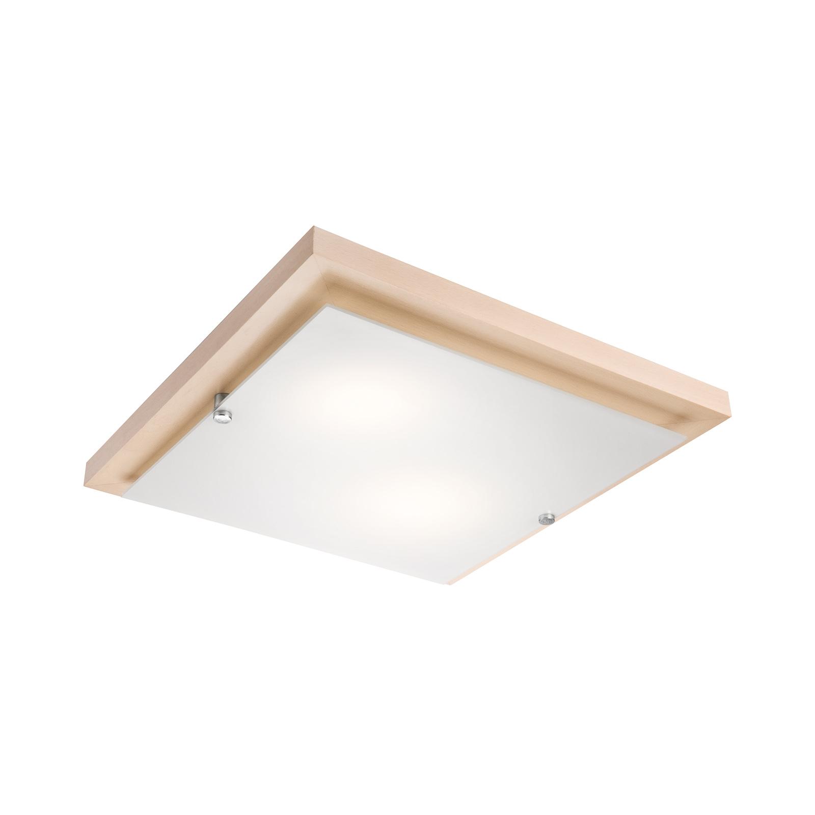 Deckenlampe Kerio, 35x35 cm, Kiefer natur