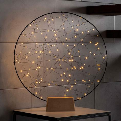 LED-dekolys metallsilhuett Ring for innendørs bruk