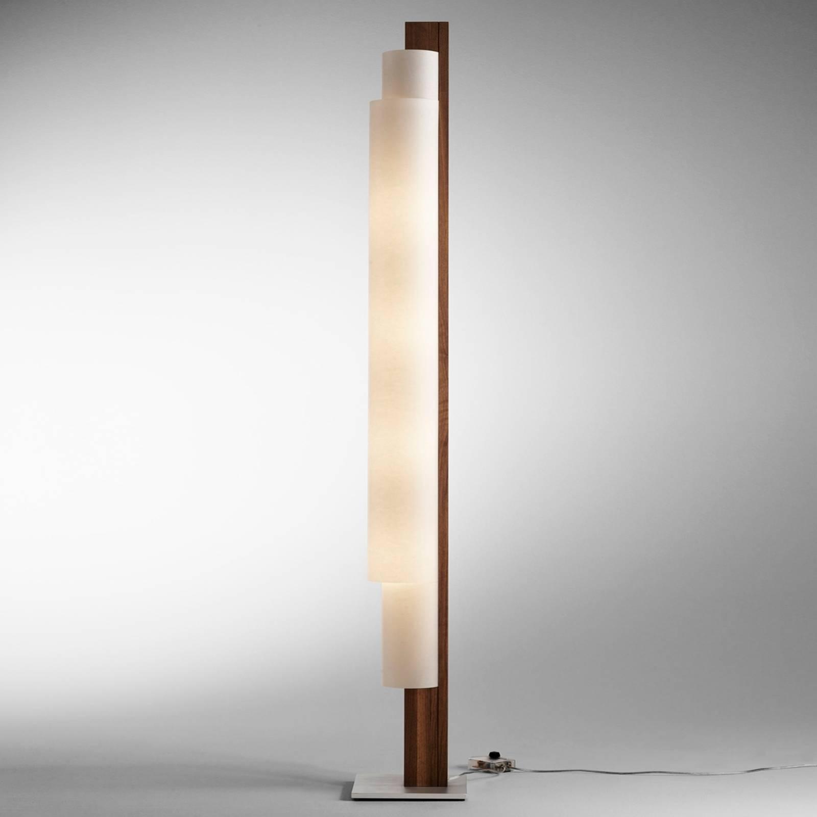 Lampa stojąca Stele orzech