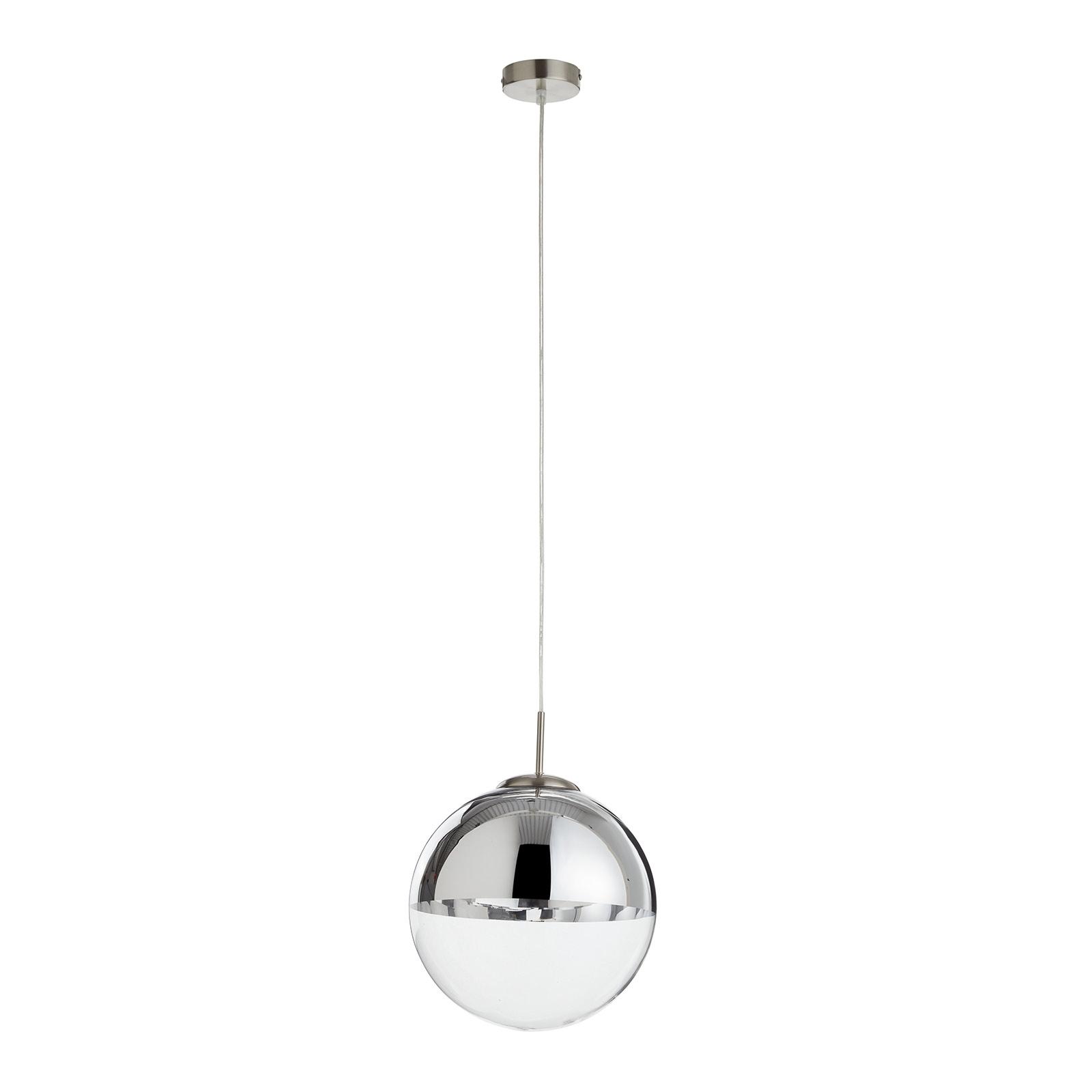 Lampada a sospensione Ravena con 1 sfera di vetro