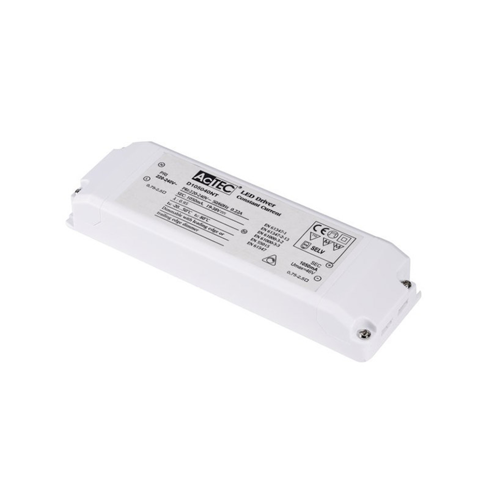 SLV LED-driver 1050 mA, 20-40 W, Triac
