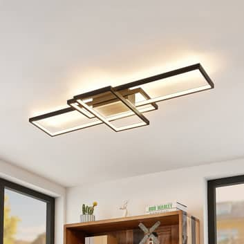 Lindby Emiljan LED-taklampe, svart matt