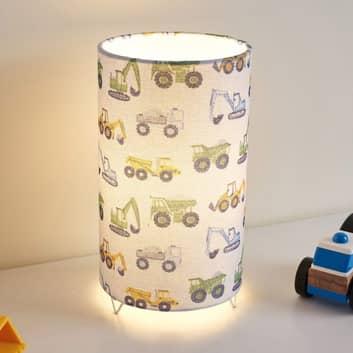 Pauleen Cute Tractor bordlampe med hørskærm