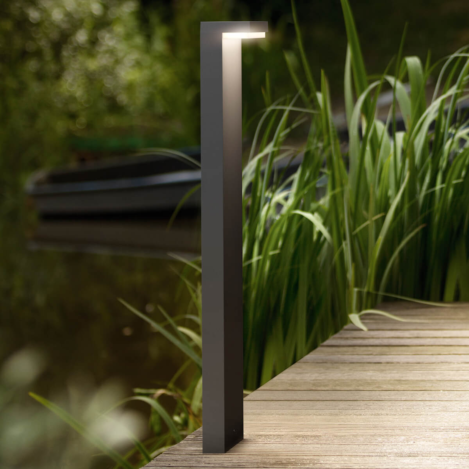 L-formad LED-gatlykta Bustan av aluminium