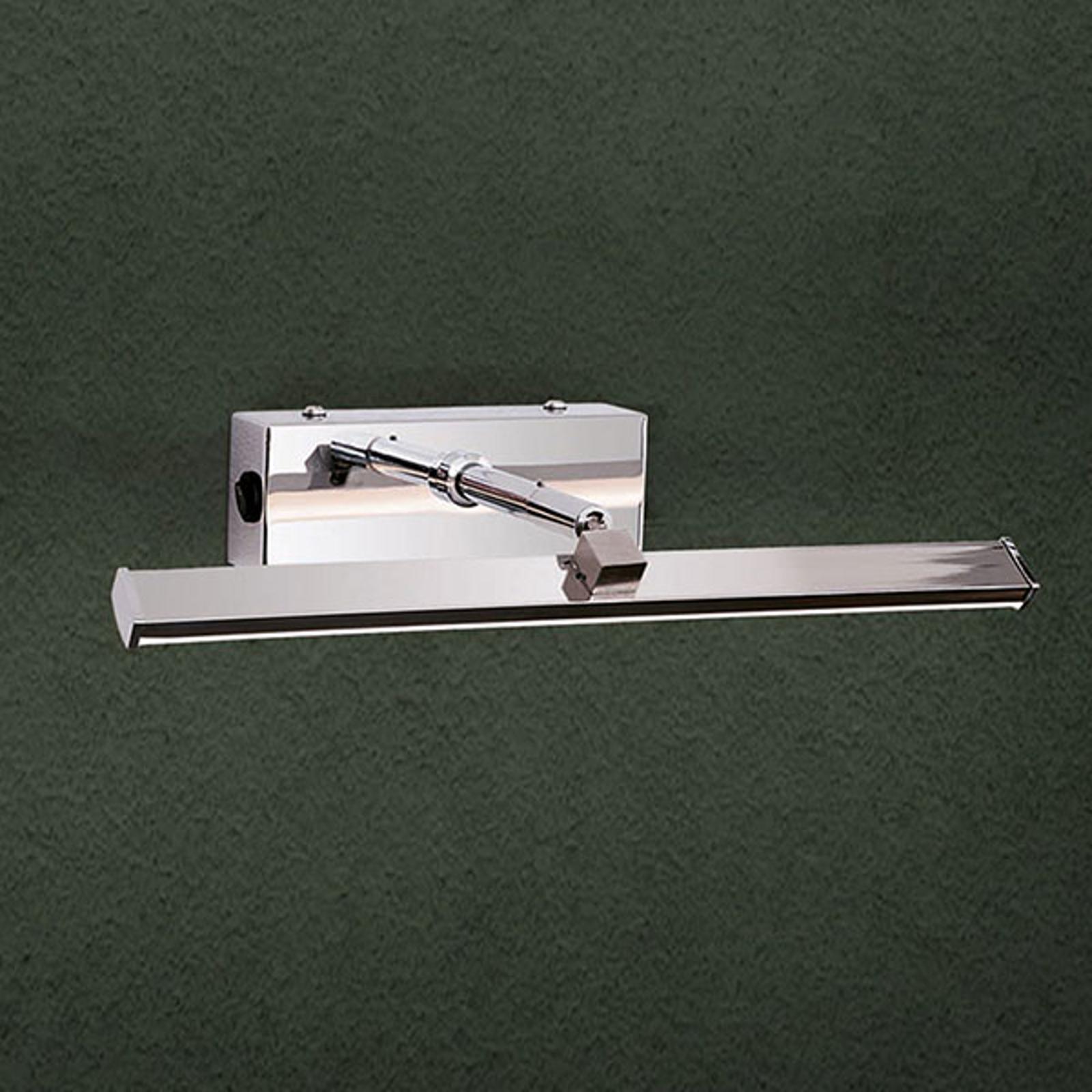 Chromfarbene LED-Bilderleuchte Suren, 30 cm