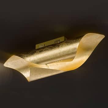 LED-Deckenleuchte Safira in glänzendem Gold