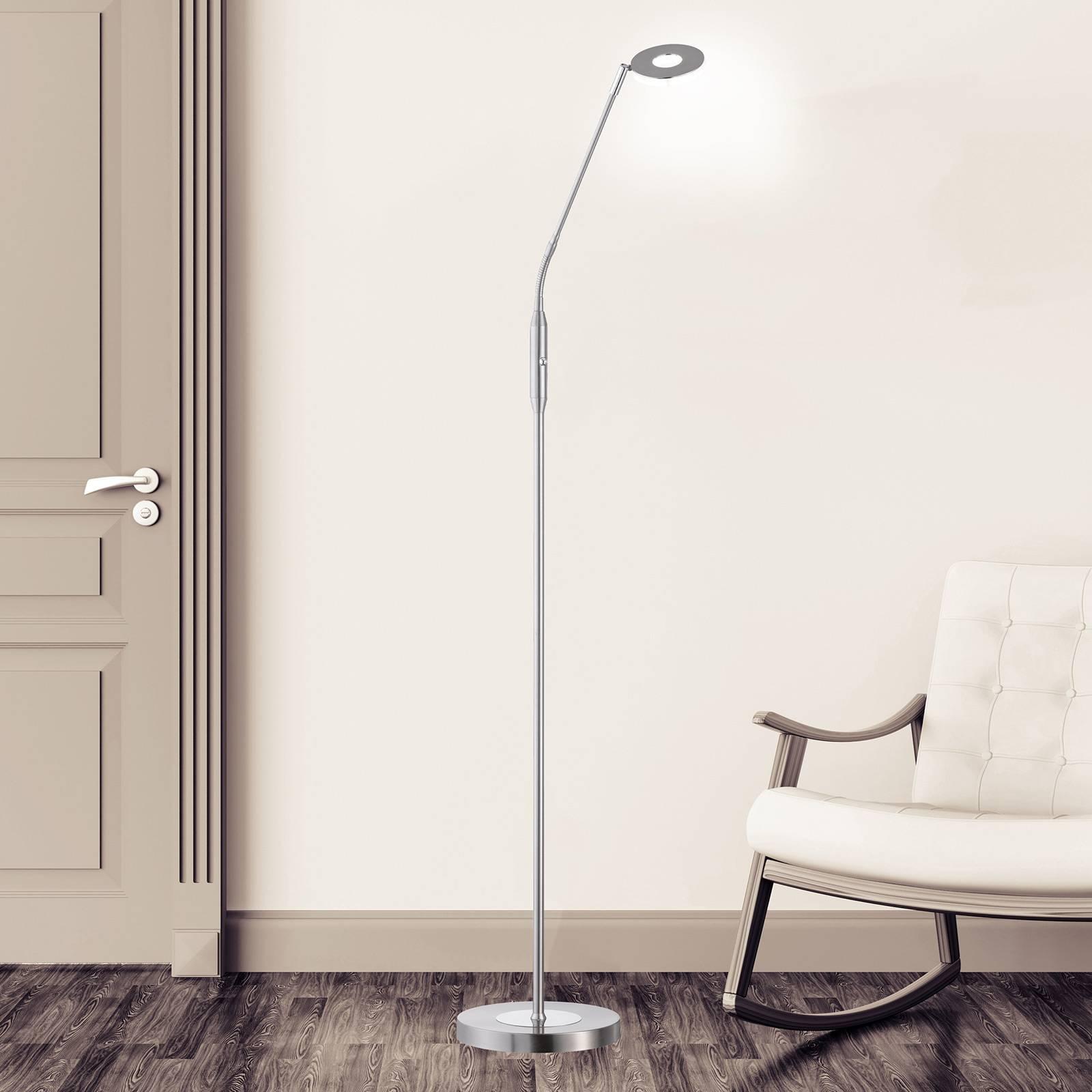 Lampadaire LED Dent, CCT, à 1 lampe, nickel