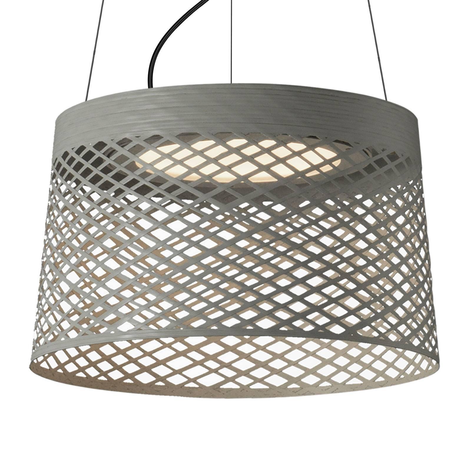Foscarini Twiggy Grid LED-Hängeleuchte, greige