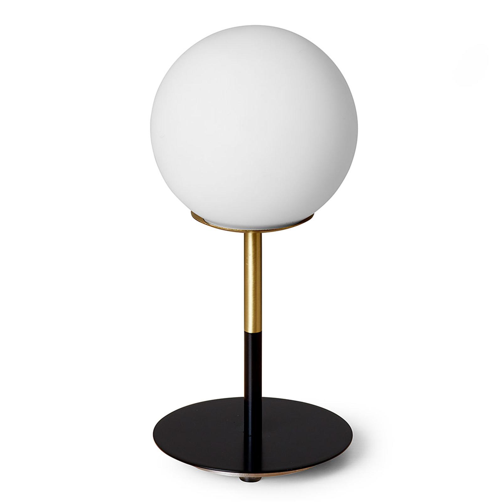 Mosiężna lampa stołowa Jugen z czarną podstawą