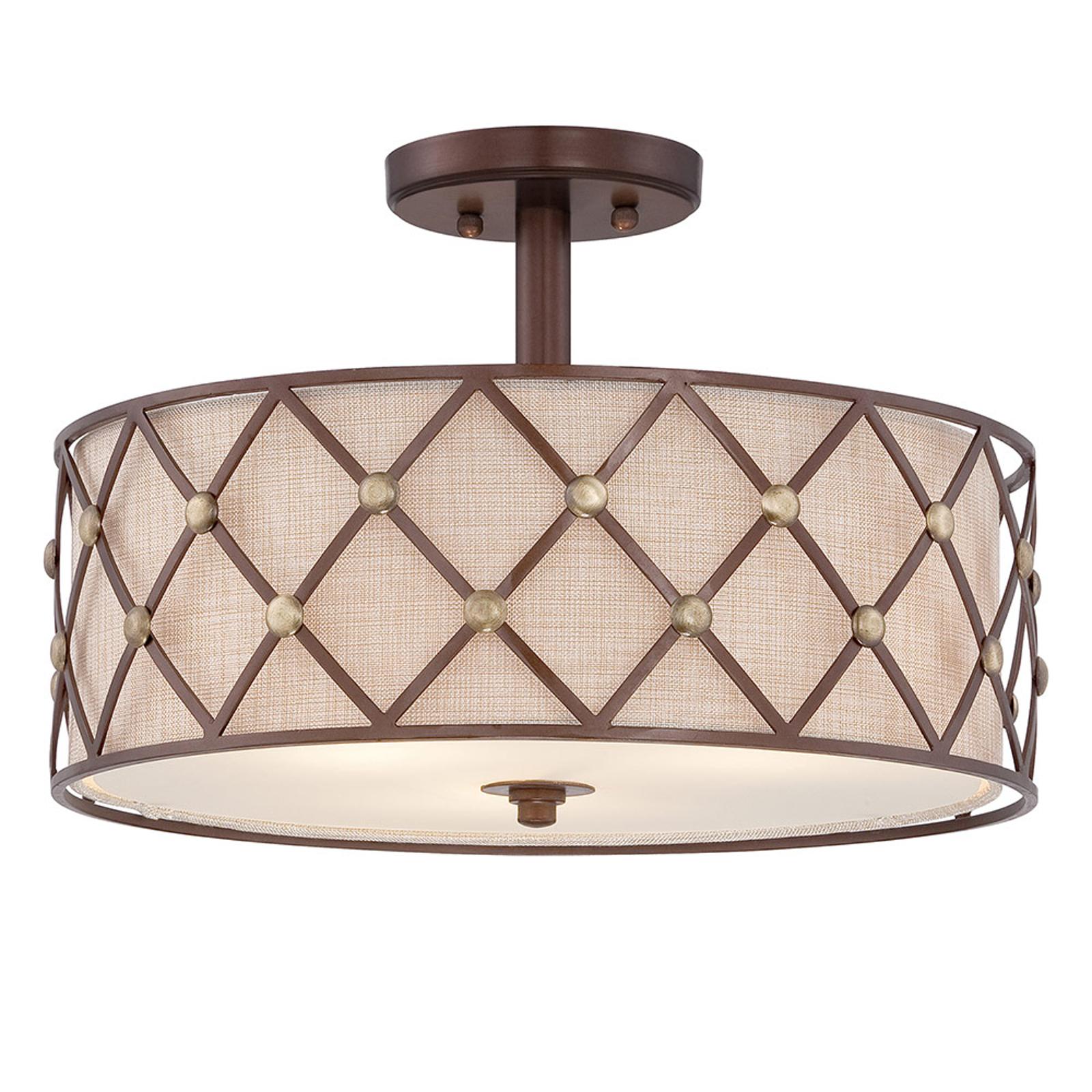 Plafondlamp met afstand Brown Lattice