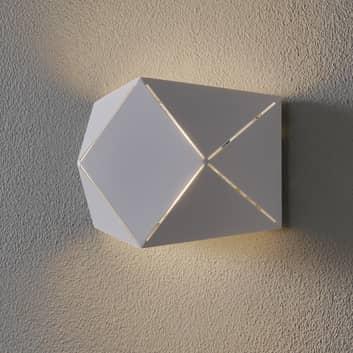 Aplique LED Zandor en blanco, anchura 18 cm