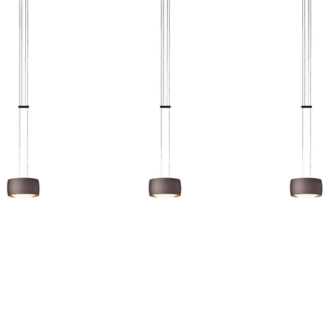 OLIGO Grace suspension LED à 3 lampes brun