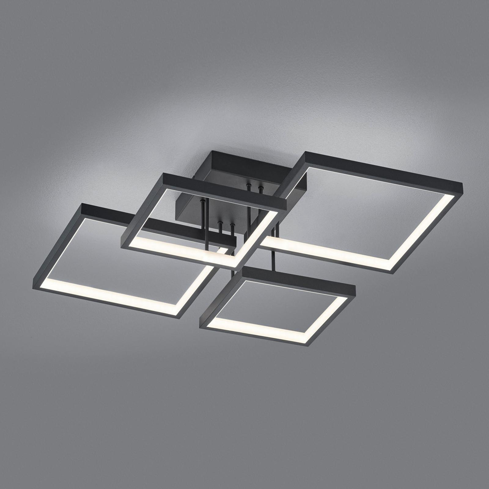 Lampa sufitowa LED Sorrento 52x52cm, czarna matowa