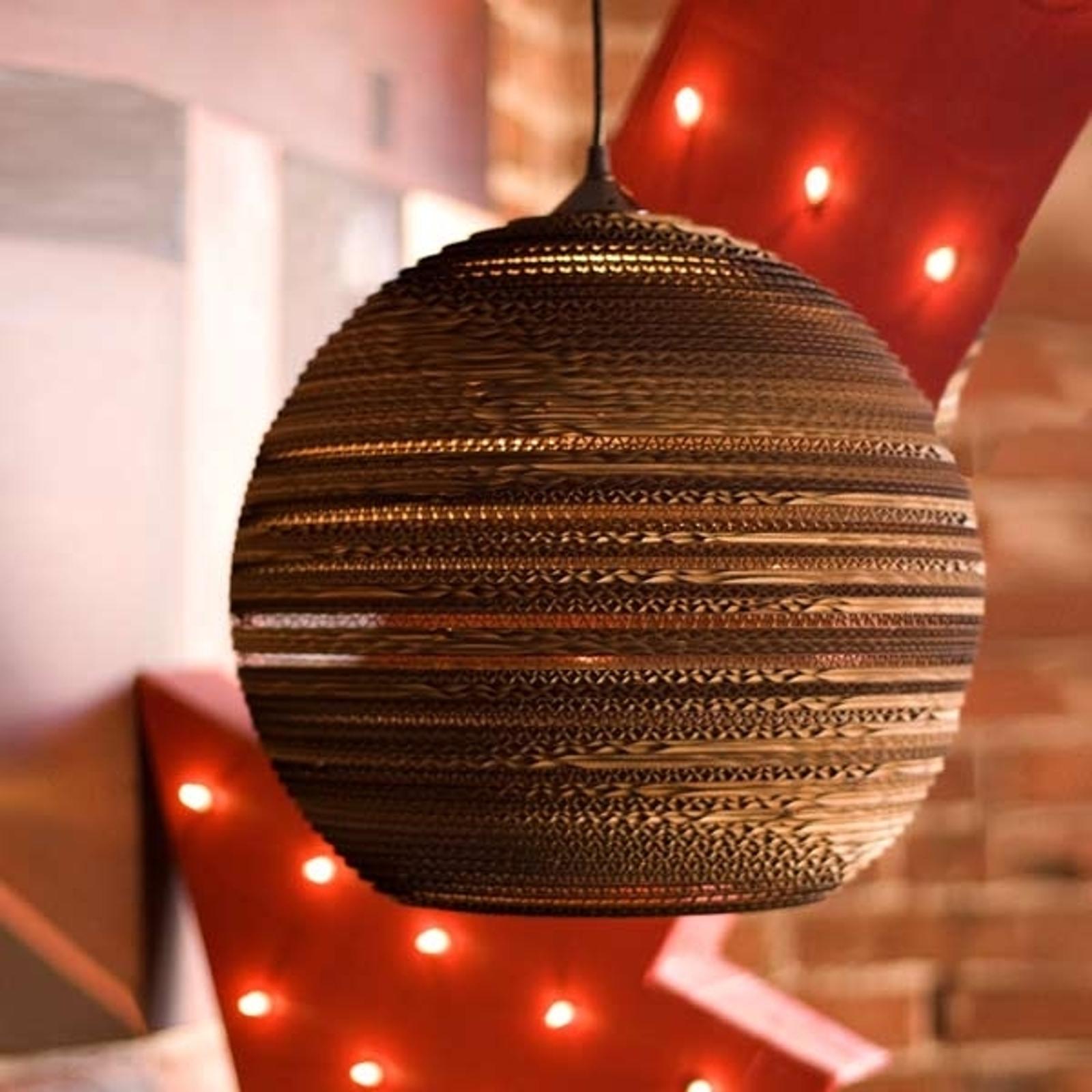 Ball - ronde kartonnen hanglamp, 26 cm