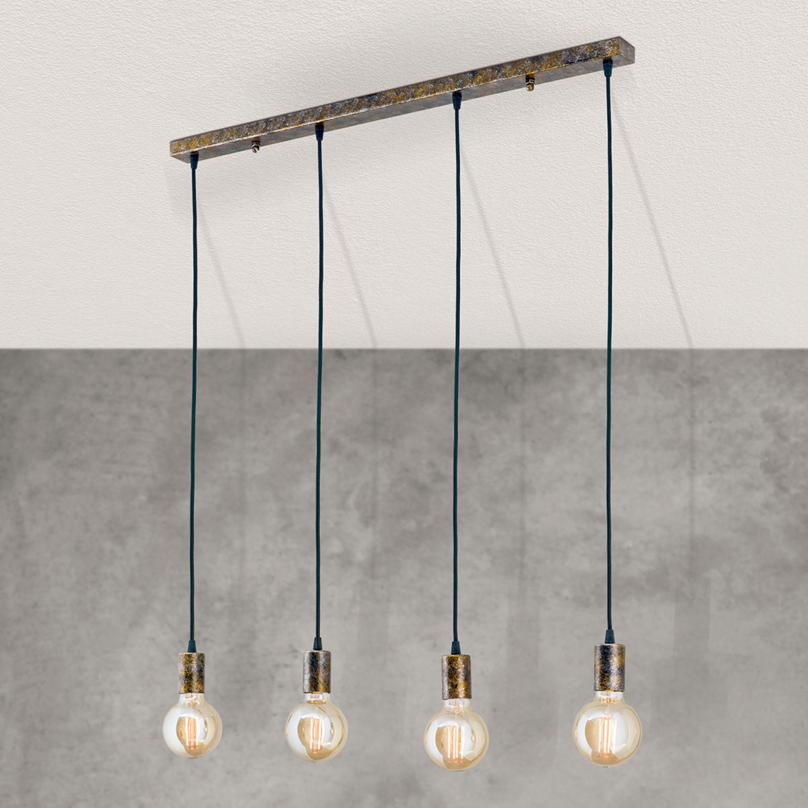 4-punktowa lampa wisząca Vintage Rati