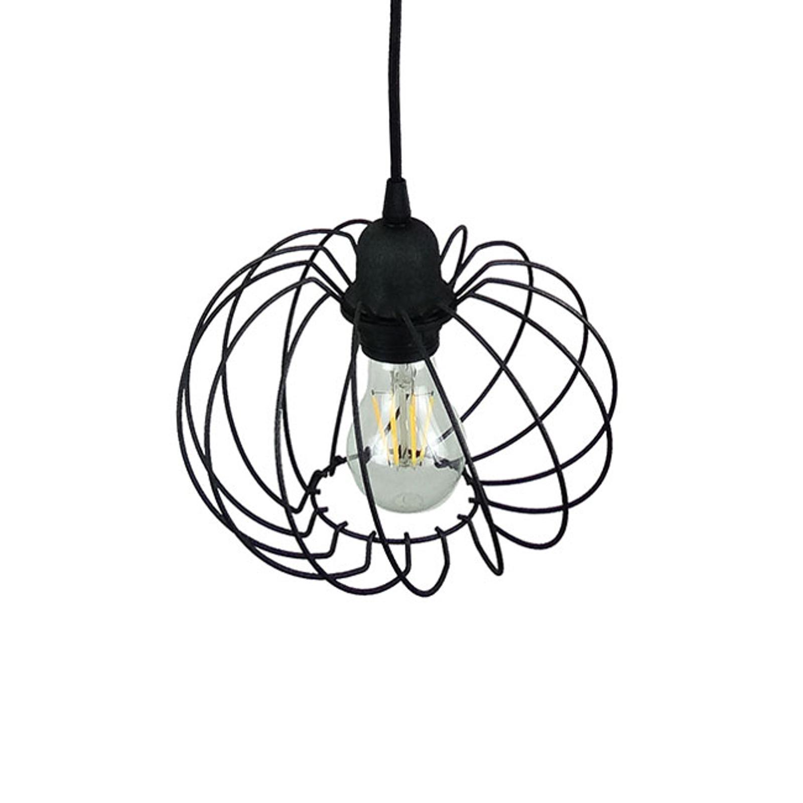 Lampada a sospensione Kula, 1 luce, Ø 22 cm, nero