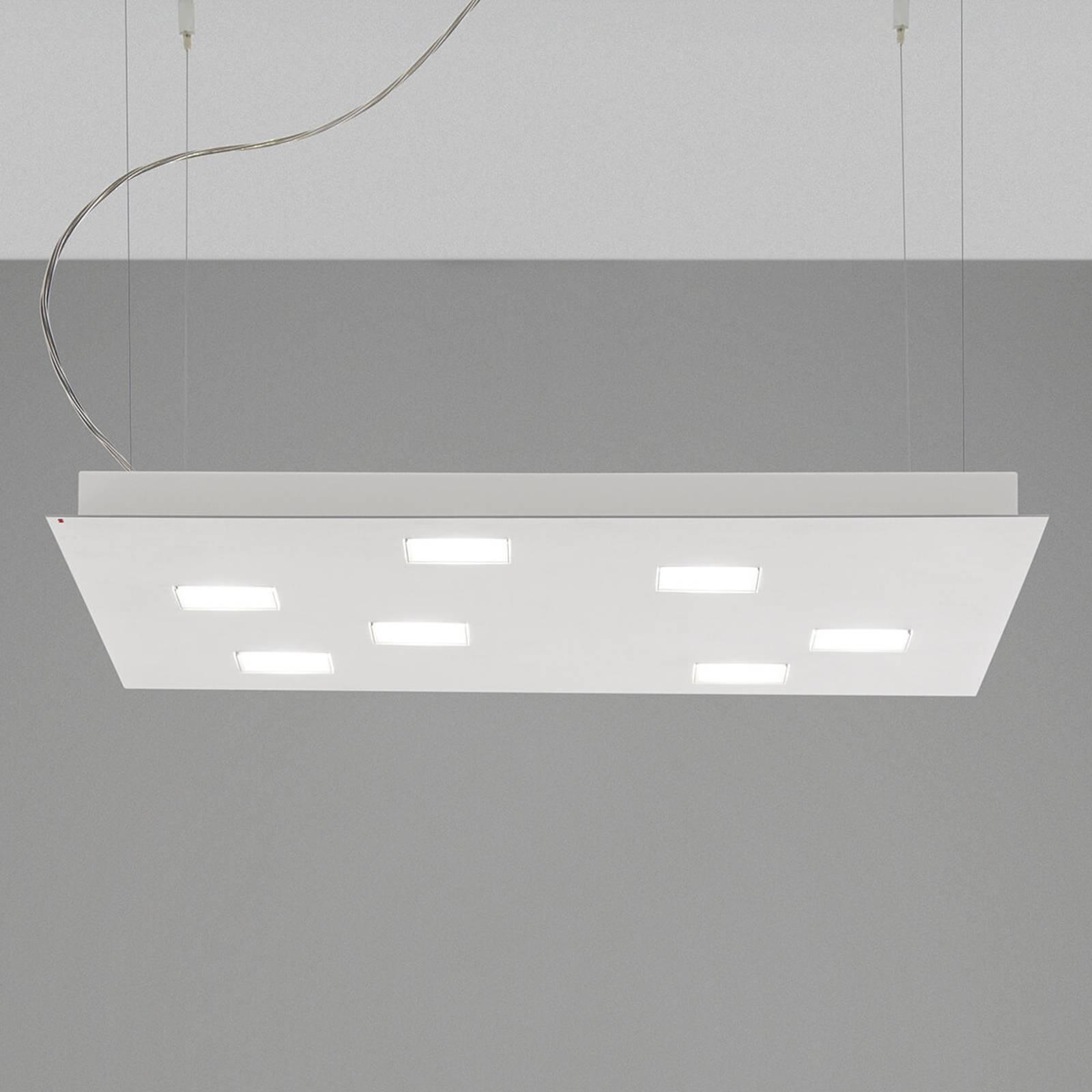 Hoekige LED hanglamp Quarter, wit