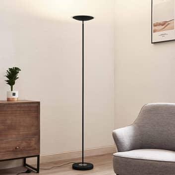 Lindby Heliani LED vloerlamp, 1-lamp, zwart