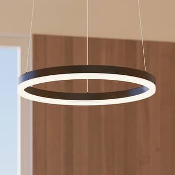 Arcchio Albiona LED a sospensione, 1 anello, nero